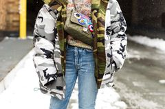 Steppjacke in Camouflage