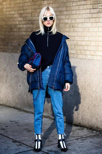 Steppjacke aus Jeans