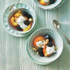 Anis-Pfirsich mit Ziegenfrischkäse