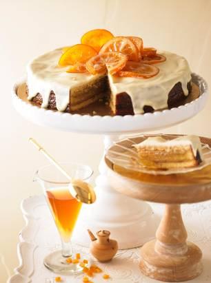 Orangen-Baumkuchen-Torte