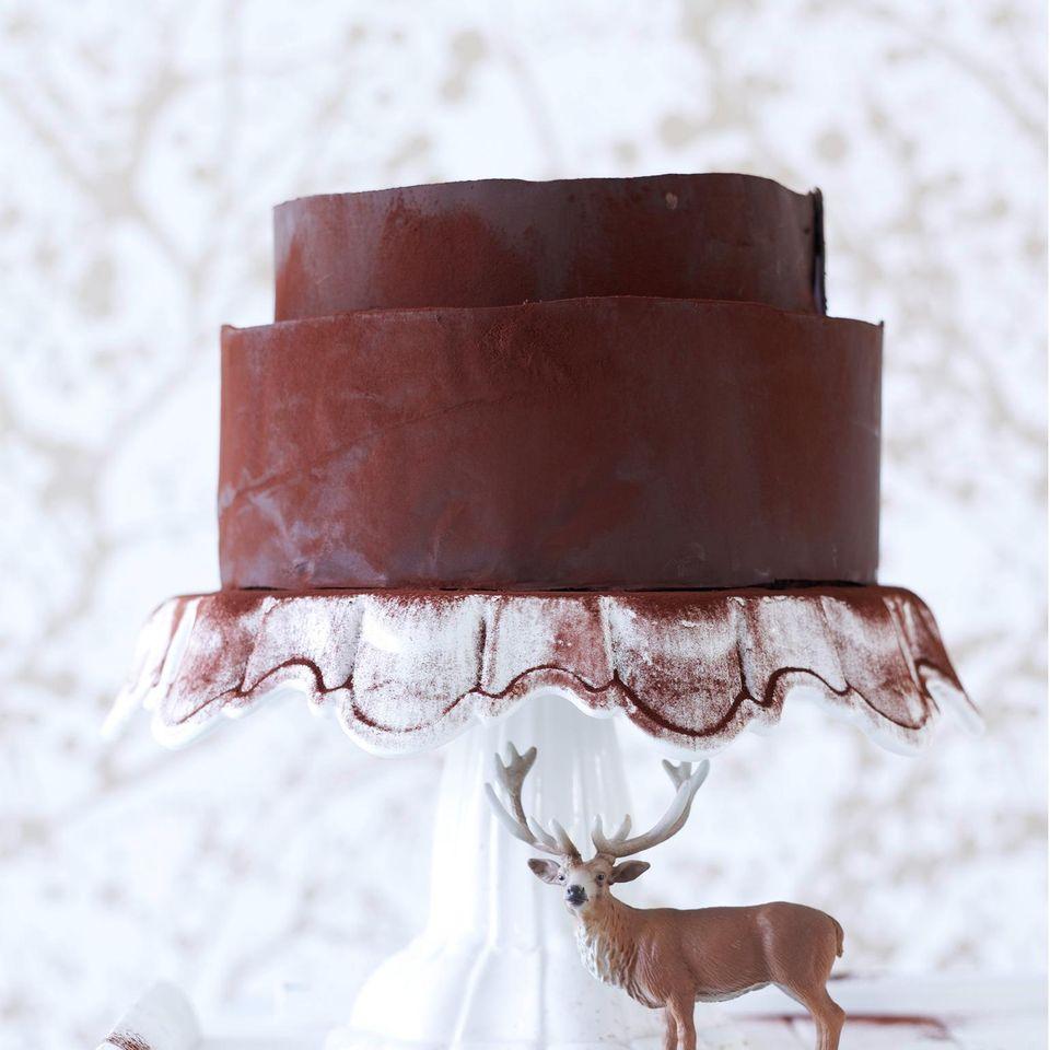 Weihnachtstorte: Schoko-Torte