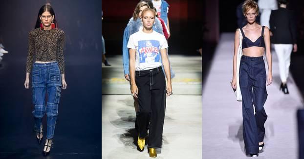 Denim-Trends 2018 auf dem Catwalk mit Cargo Jeans