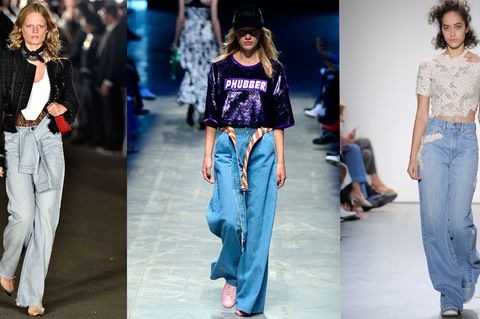 Denim-Trends 2018 auf dem Catwalk
