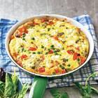 Bunte Frittata mit Blattsalat