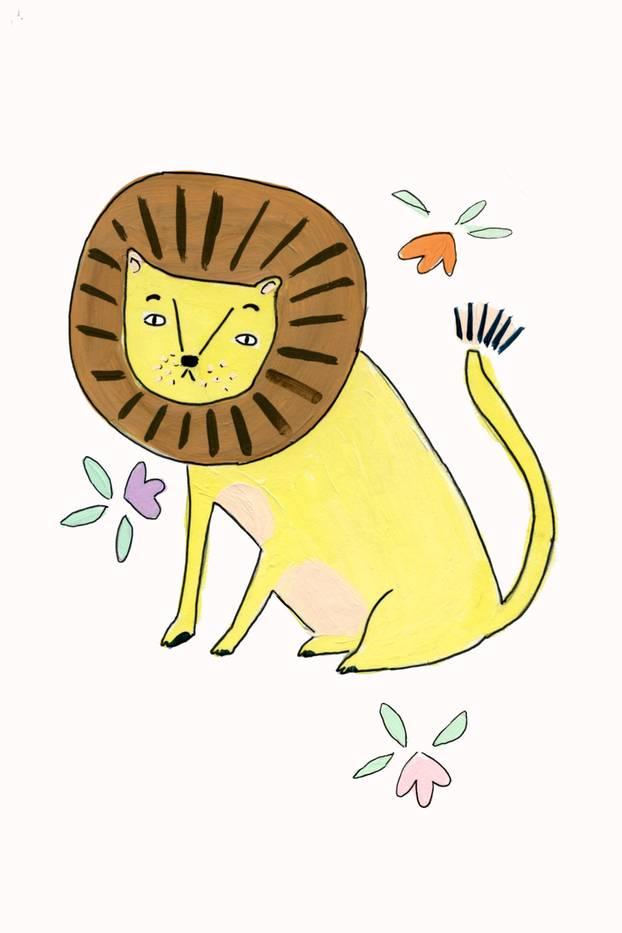 Jahreshoroskop Löwe: Zeichnung Löwe