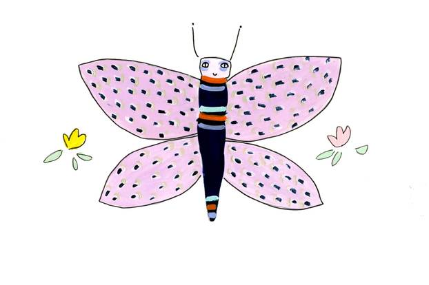 Jahreshoroskop Waage: Zeichnung Schmetterling
