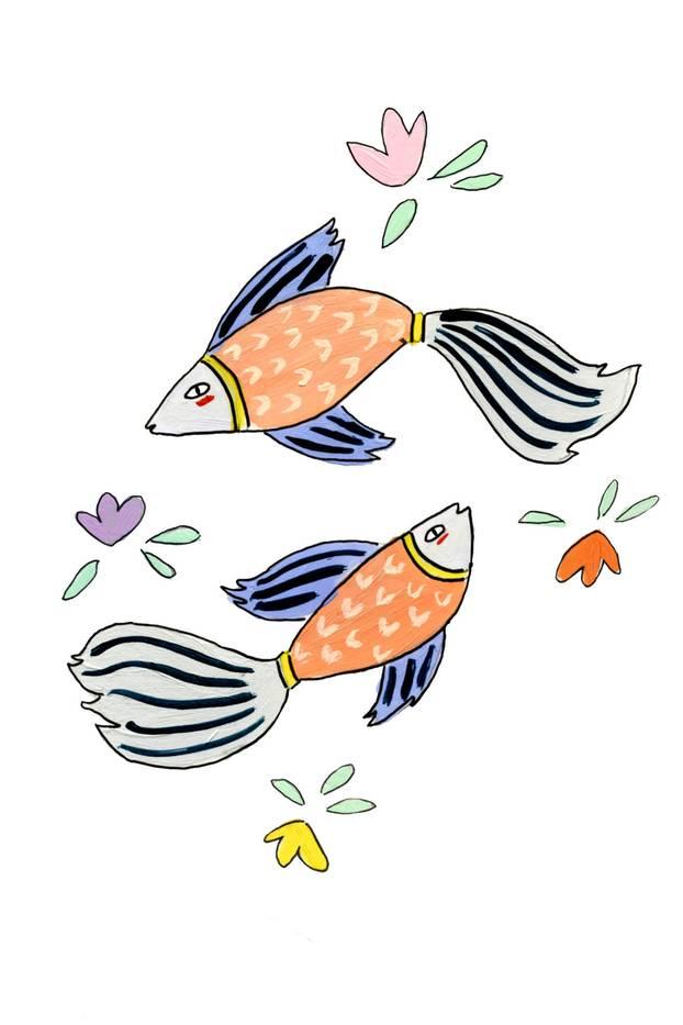 Jahreshoroskop Fische: Zeichnung Fische