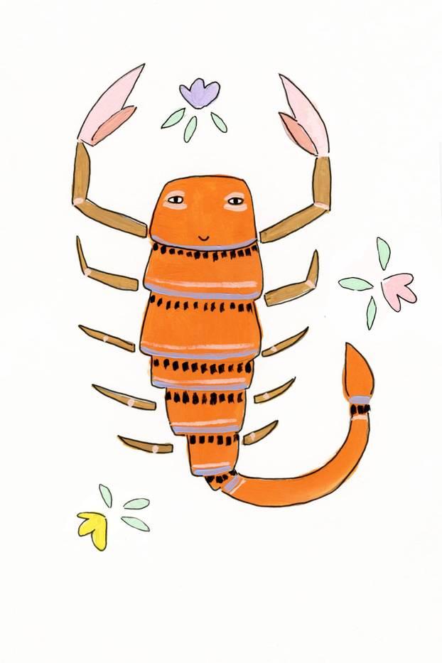 Jahreshoroskop Skorpion: Zeichnung Skorpsion