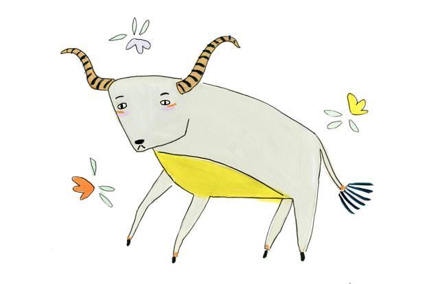 Jahreshoroskop Stier: Zeichnung von Stier