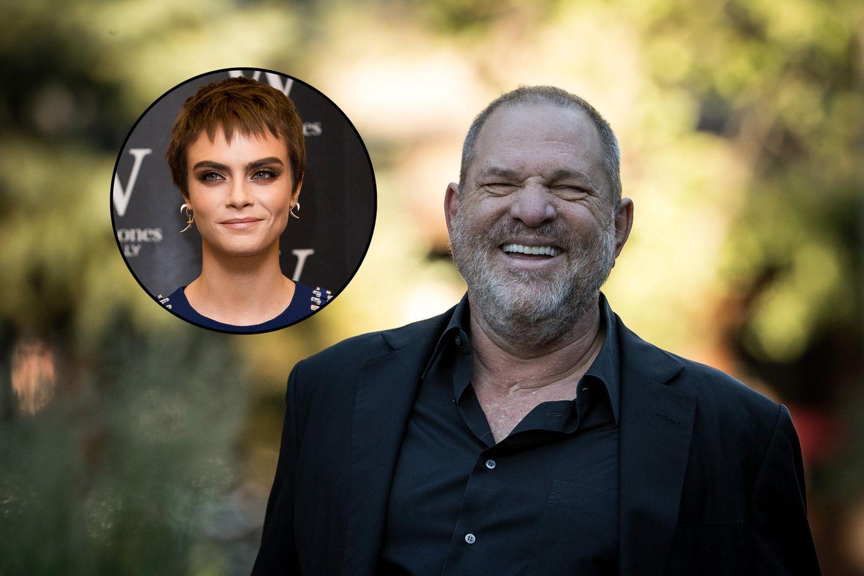 Filmemacher Harvey Weinstein und Topmodel Cara Delevigne.