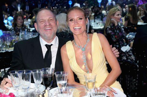 Harvey Weinstein und Heidi Klum bei einer AIDS-Gala.