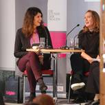 Brigitte Huber mit Paula Hawkins