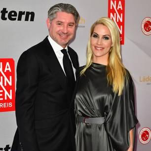 Andreas Pfaff und Judith Rakers bei einer Preisverleihung im April 2017.