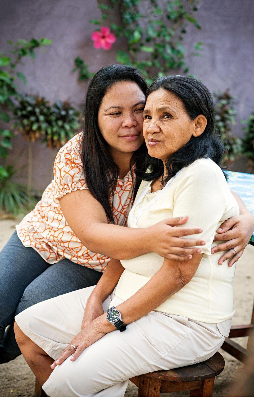 Marlyn mit ihrer Mutter