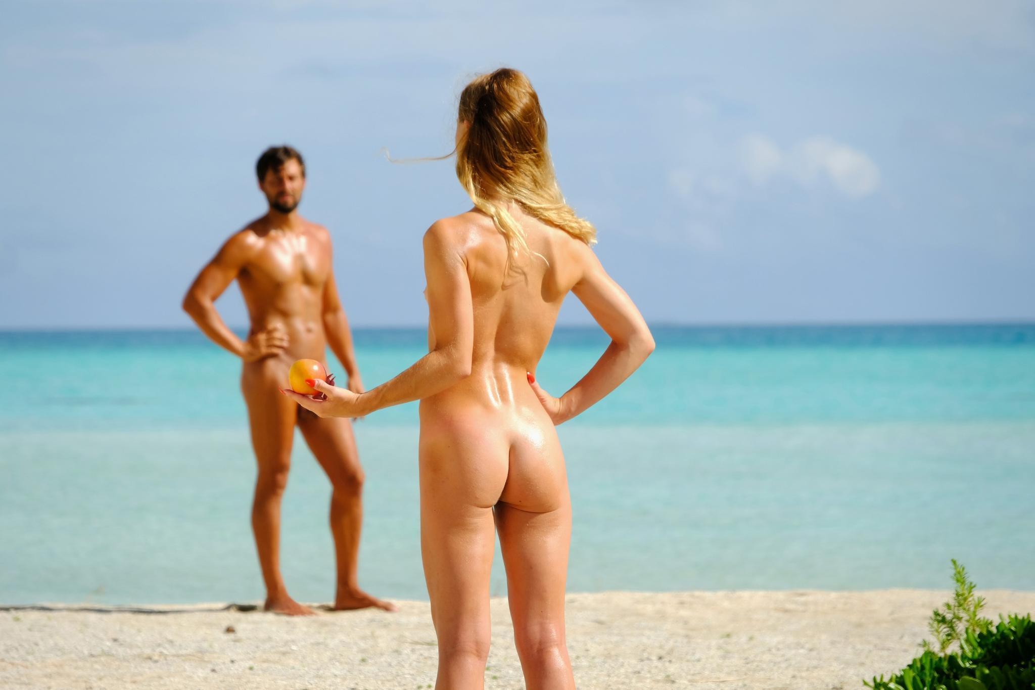 Handtuch ziehen Nacktvideo ab