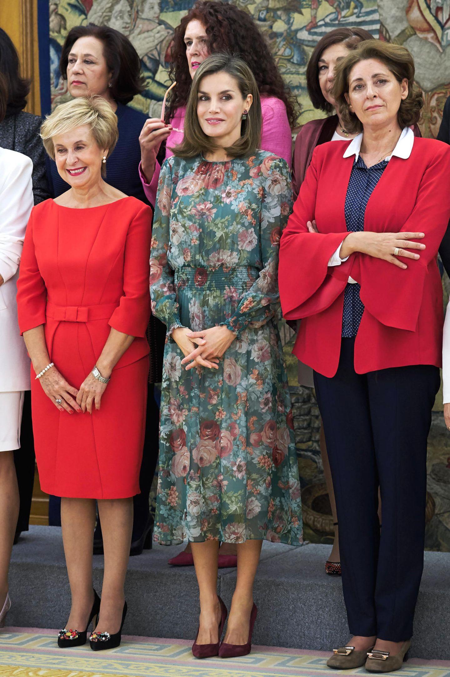Letizia von Spanien im Kleid von Zara