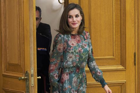 Zara Kleid an Letizia von Spanien