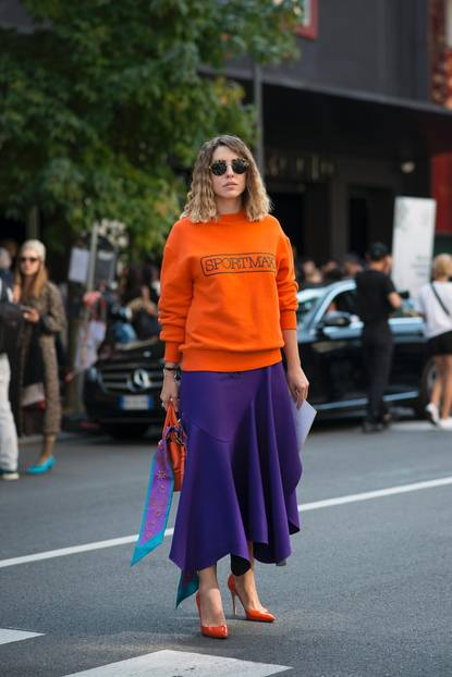 Herbst-Outfit mit Colourblocking