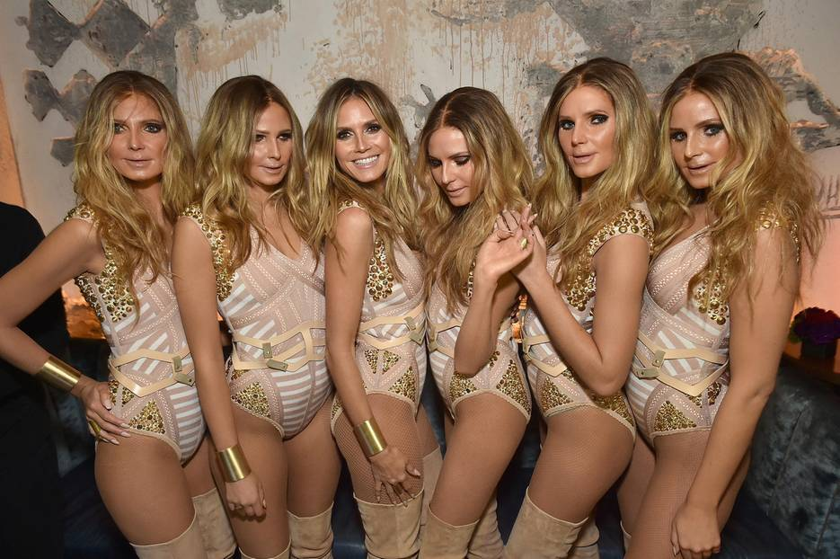 2016: Heidi Klum mit fünf Doppelgängern