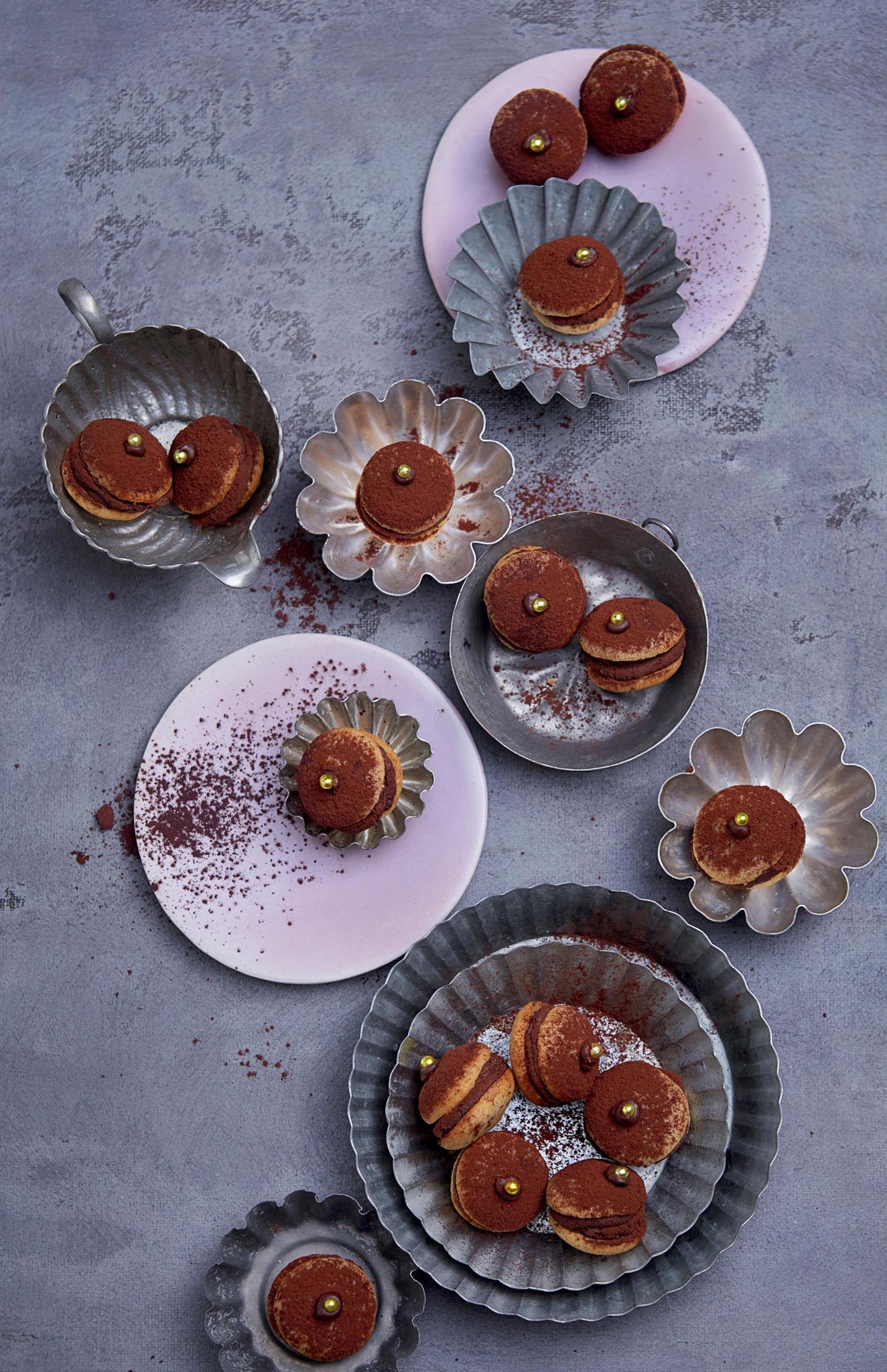 Maronen-Plätzchen mit Orangen-Ganache