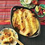 Enchilada mit Chili con Carne