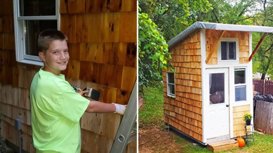 13-Jähriger baut sich ein eigenes Mini-Haus
