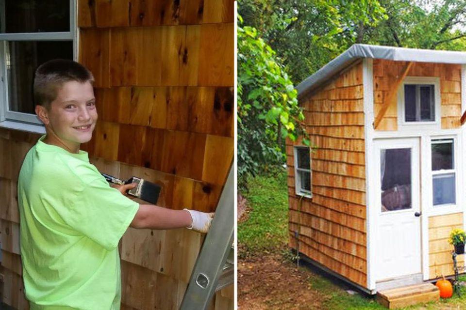 13-Jähriger baut sich sein eigenes Tiny-House