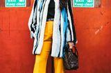 Faux-Fur-Jacke an Streetstyle-Star