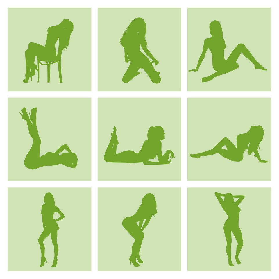 Posen für erotische Fotos - Grafik