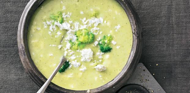 Brokkoli-Feta-Suppe