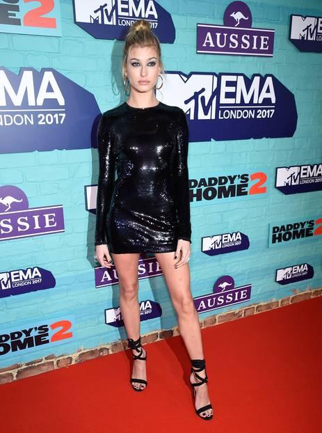 Hailey Baldwin auf den EMAs 2017