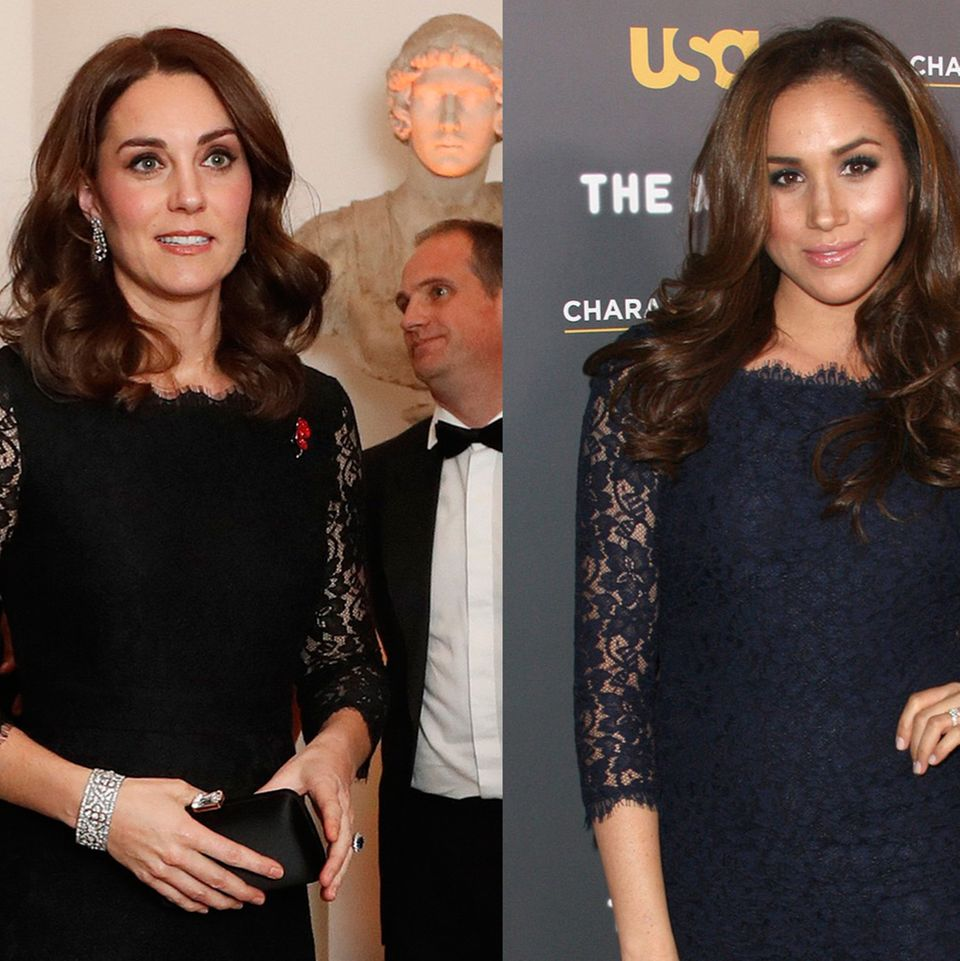 Kate Middleton und Meghan Markle im gleichen Spitzenkleid