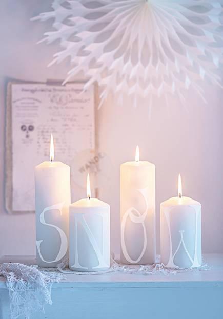 Hochwertig Kerzenquartett