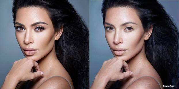 Kim Kardashian ungeschminkt