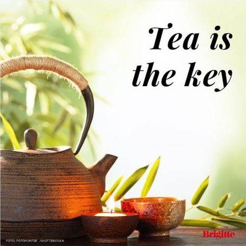 Zitate übers Essen: Tee-Zitat
