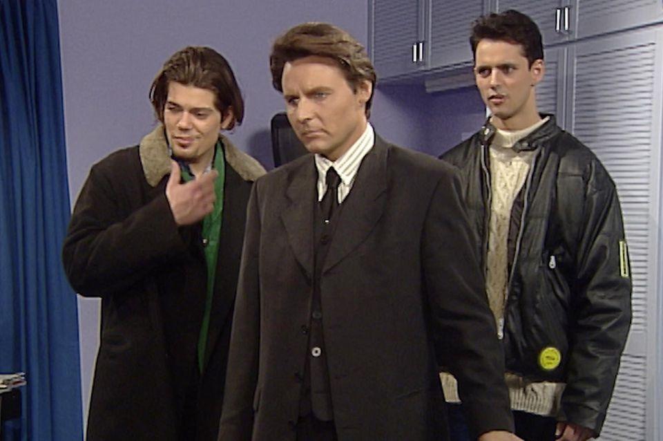 Die Seriencharaktere Leon Moreno (Daniel Fehlow), Jo Gerner (Wolfgang Bahro) und Fabian Moreno (Ralf Benson).