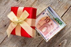 Geldgeschenk verpacken: Geld in der Geschenkbox