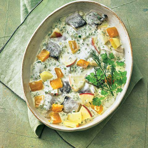 Herings-Kürbis-Salat mit Ingwer