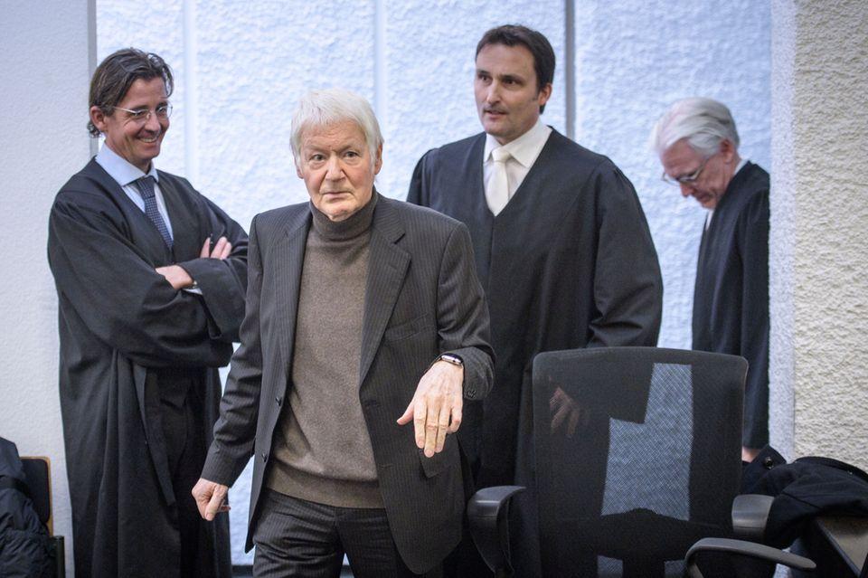 Anton Schlecker vor Gericht.
