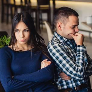 Konfliktscheu: Paar streitet sich