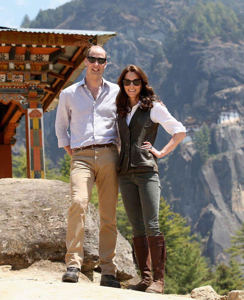 Kate Middleton und Prinz William zu Besuch in Bhutan