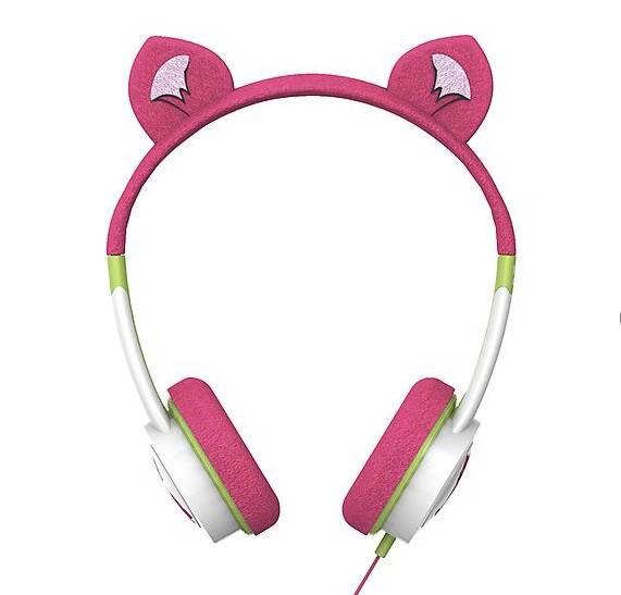 (H)it-Girls tragen jetzt Kopfhörer mit Öhrchen. Wer keine Katze sein will: Löwenohren oder Prinzessinnenkronen stehen auch zur Auswahl. Damit die zarten Kinderohren keinen Schaden nehmen, gibt es eine integrierte Lautstärke-Begrenzung. (Kinder-Kopfhörer ZAGG iFrogz, ab ca. 10 Euro, clasohlson.de)
