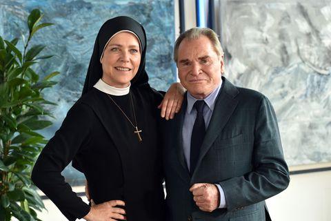 Janina Hartwig und Fritz Wepper