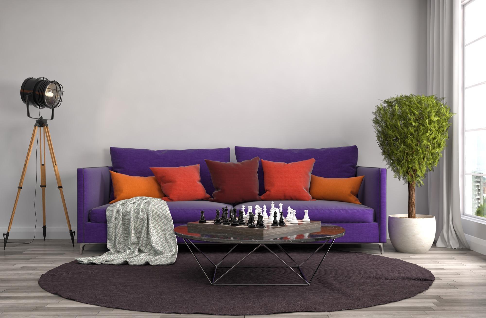 Sofa in Violett