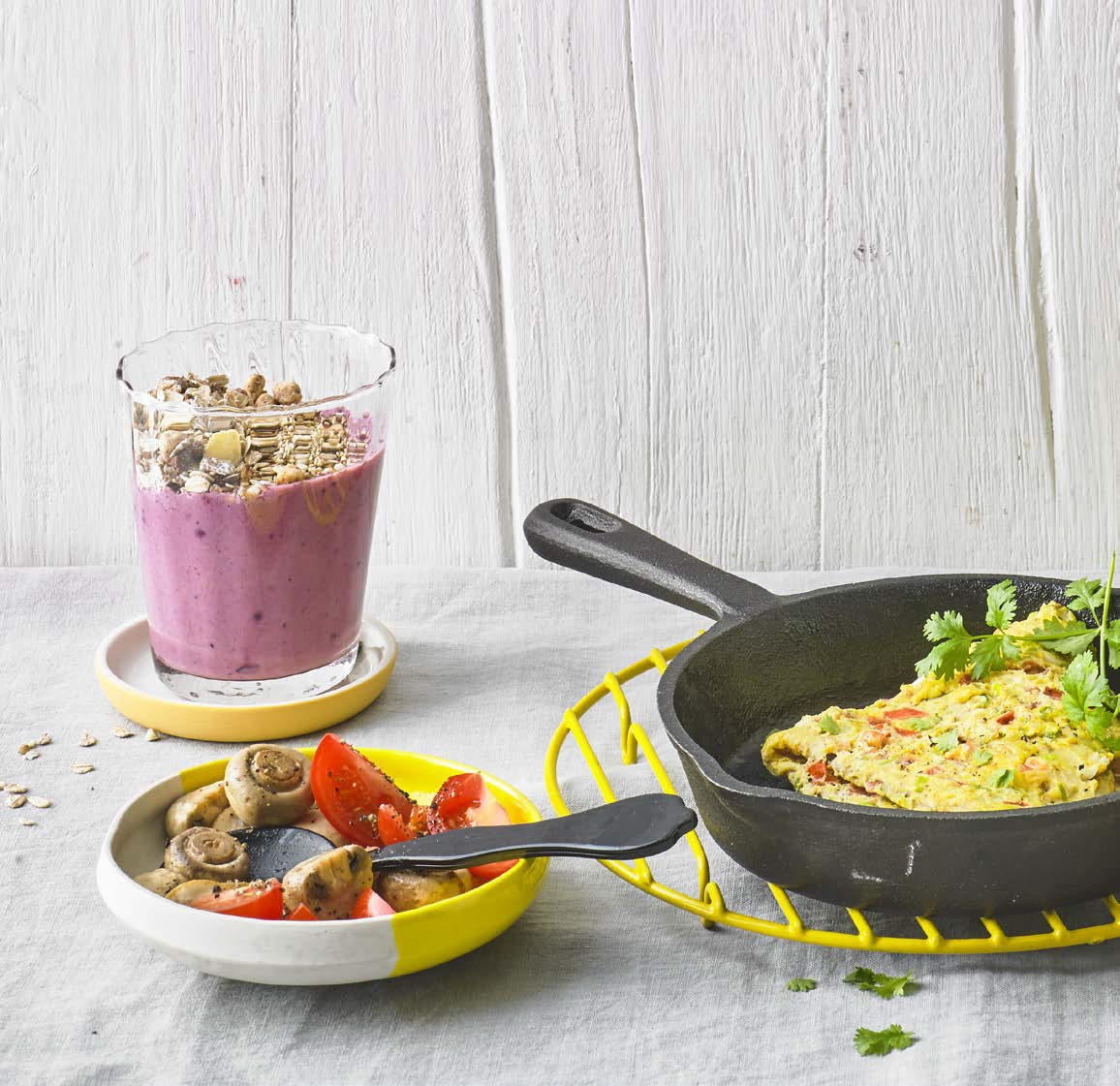 Masala-Omelett mit Pilzen