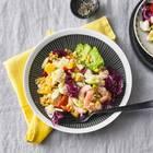 Blumenkohl-Salat mit Garnelen