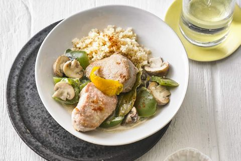 Paprika-Filets mit Couscous