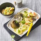 Spitzkohl, Senfsoße und Rollmops