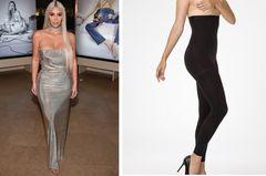 Kim Kardashian trägt Strumpfhose unter Kleid