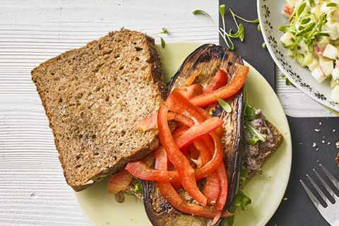 Auberginen-Sandwich